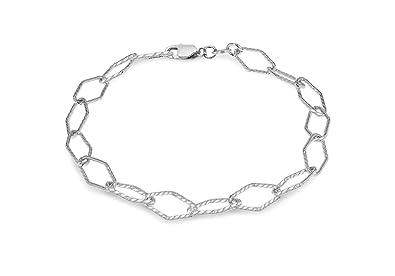 Tuscany Silver Sterling Silver 150 Oval Belcher Charm Bracelet of 20cm/8 15Wt0psRc