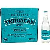 Tehuacan Brillante Agua Mineral Platino Vidrio 0.355 L (12 Piezas)