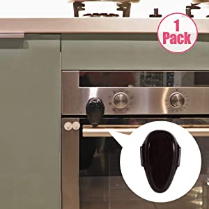 EUDEMON Childproof Oven Door Lock, Oven Front Lock Easy to Install and Use Durable and Heat-Resistant 3M Tapes no Tools Need or Drill(1 Pack,Grey)