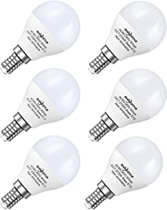 SHINESTAR 6-Pack A15 E12 Ceiling Fan LED Light Bulbs 60 watt Equivalent, Include 3-Pack 5000K Daylight and 3-Pack 2700k Warm White Bulbs, Non-dimmable