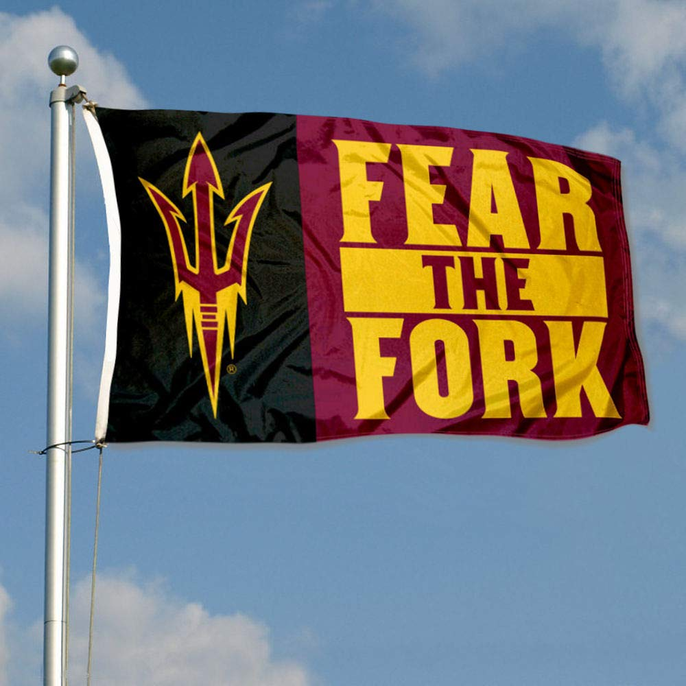 Arizona State University Sun Devils Fear The Fork Double Sided Flag College Flags and Banners Co
