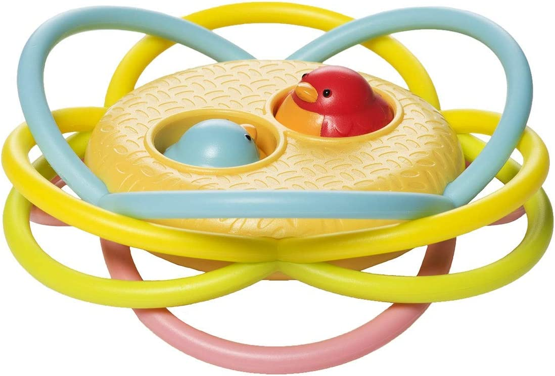 Manhattan Toy Birdie Hide-N-Seek Baby Teething and Sound Activity Toy