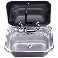 Motorhome Caravan Camper Stainless Steel Sink Faucet Combo 20 Guage …