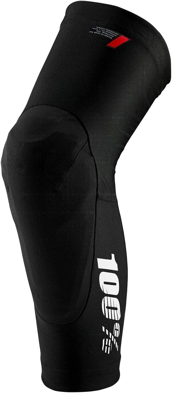 Erwachsene Schwarz XL 100 Percent TERATEC Knee Guard Black Unisex