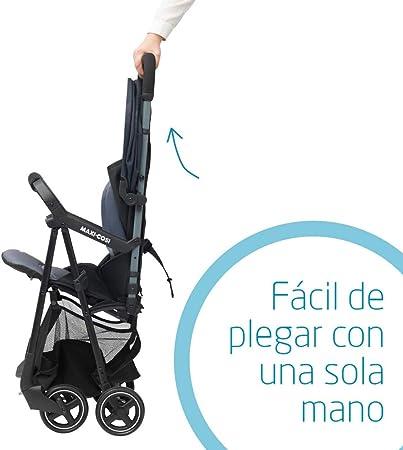 Maxi-Cosi Diza Silla Paseo bebé, Cochecito compacto y ultraligero, pesa 4.2 kg, reclinable y plegable con una sola mano, color Brave Graphite