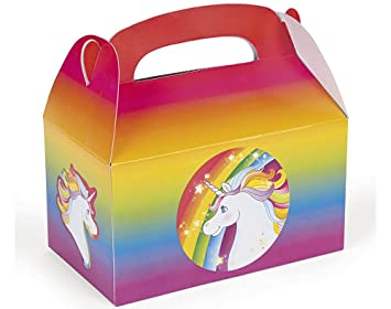 Unicorn Girls /& Boys Party Loot Boxes Children Food Lunch Birthday Party Bag UK