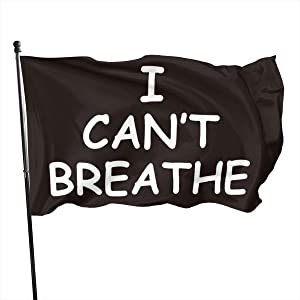 Runbar Black Lives Matter I Can't Breathe Garden Flags 3×5 FT Black White Equality Outdoor Flags for Parade, Courtyard Decoration