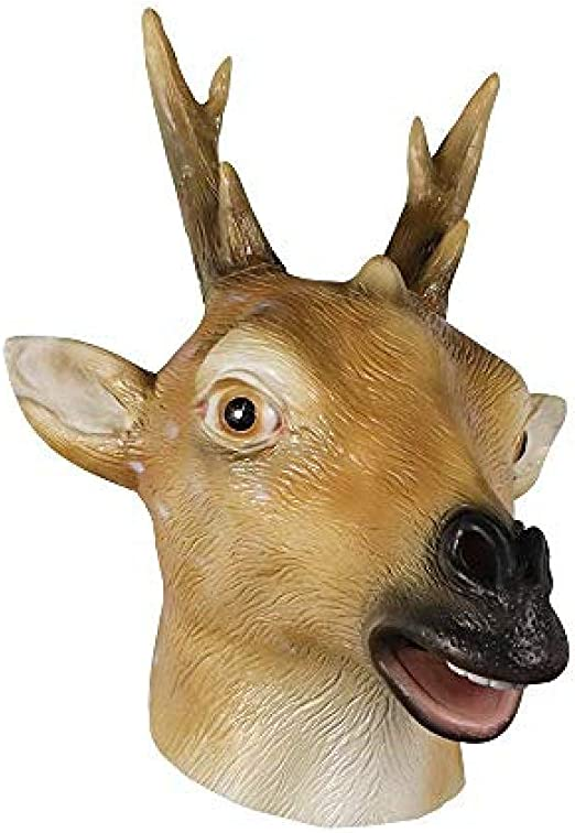 Máscara de Cabeza de Ciervo de látex Fiesta de Disfraces de ...