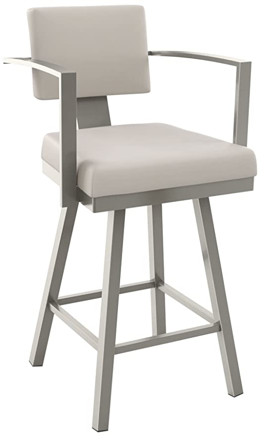 Remarkable Amisco Industries Akers Swivel Stool 42 75 Inch Titanium Creativecarmelina Interior Chair Design Creativecarmelinacom