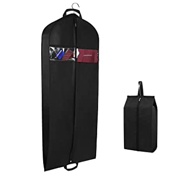 Breathable Suit Carrier Covers Bag Dress Garment Bag with Pockets Carry Handles Gusset and Shoe Bag