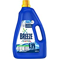 Breeze Liquid Detergent, Anti-Bacterial and Colour Protect, 3.8kg
