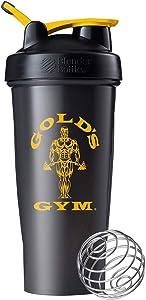 Blender Bottle Gold's Gym Classic 28 oz. SpoutGuard Shaker Cup - Black/Gold