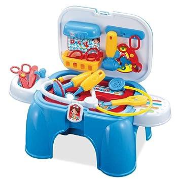 Juguetes educativos Diseño de silla para niños Kit médico Caja médica Enfermera Juguetes Juego de rol