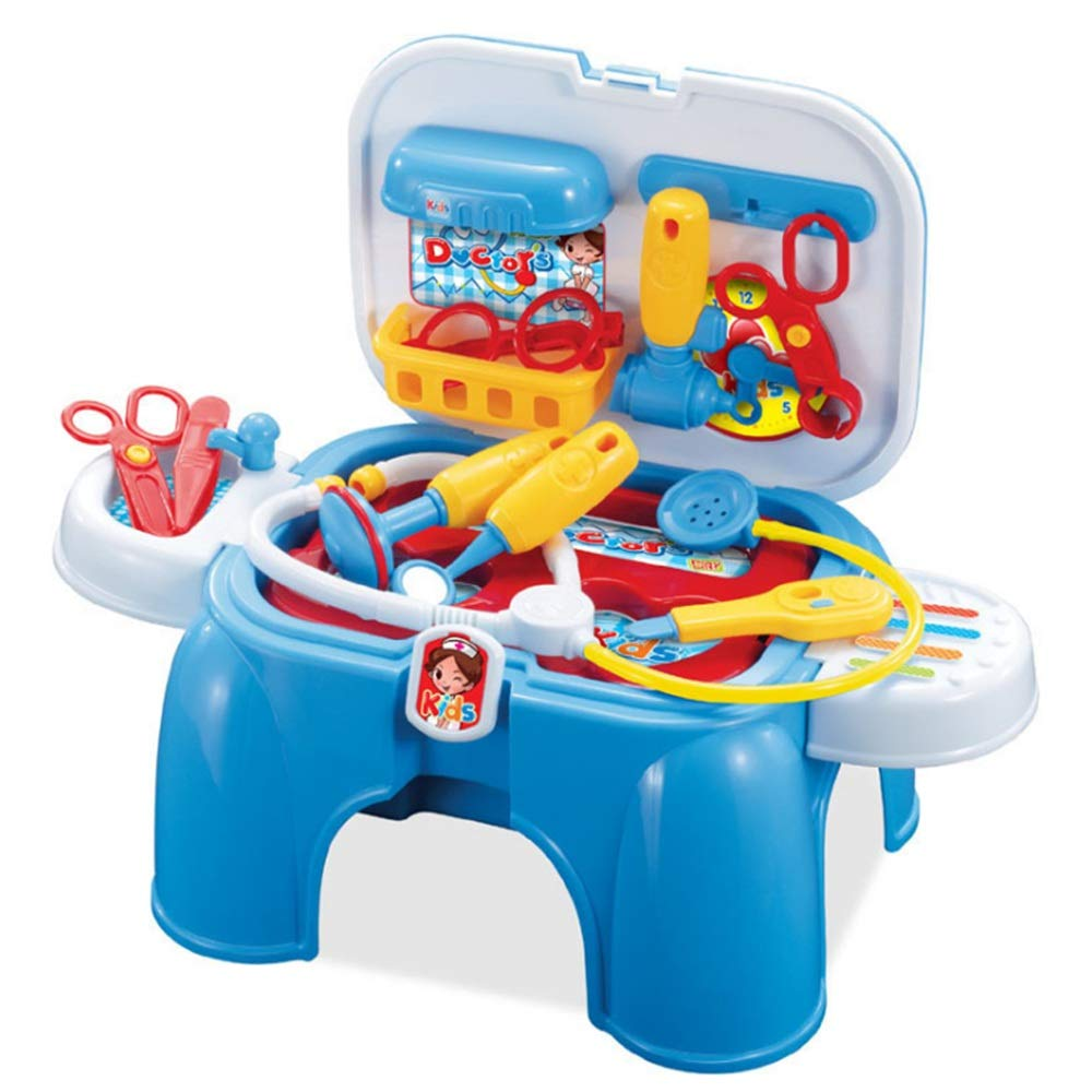 Toys Game Set for Kids Kids Chair Design Doctor Kit Medical Box Nurse Toys Role Play Doctors Toy Set Toys Cosplay Girls Boys Toy For Baby Kids Early Age Development Educational Pretend Play Set Toddle