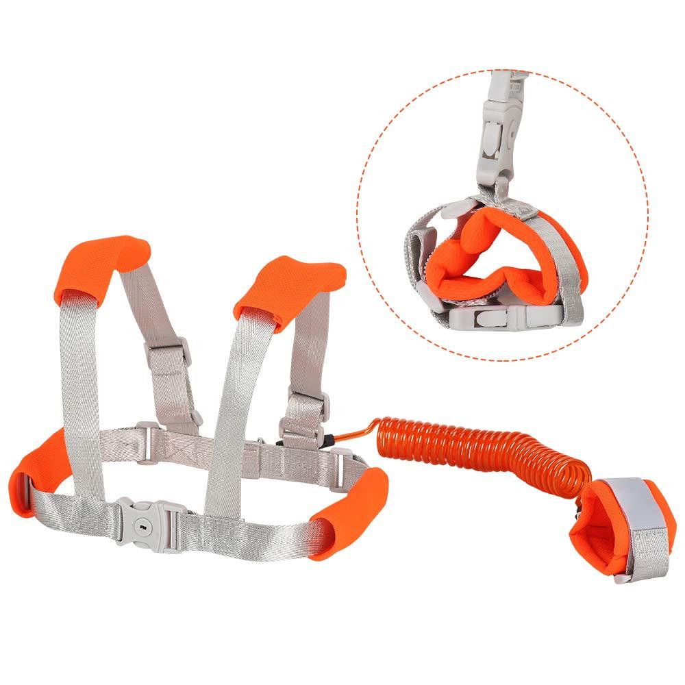 Toddler Safety Leash & Harness | Kids & Child Safety Backpack Leash 2in1 Upgraded Leash (Orange, 2.5 M)