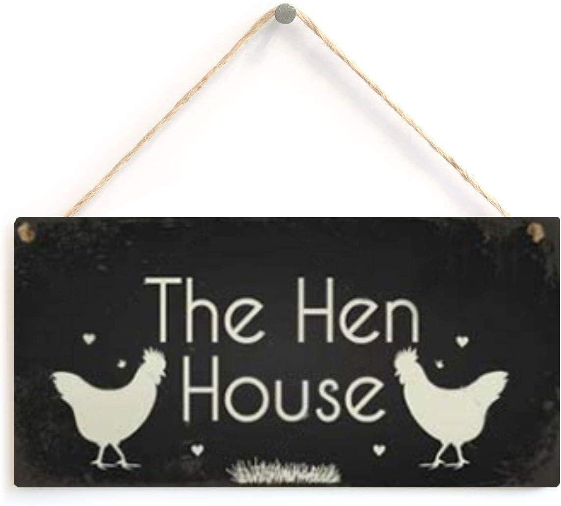 LWF Rise & Shine Mother Clucker Funny Cockerel Rooster Wooden Hanging Plaque Sign Chicken Cock Hen Coop Egg Garden Gift