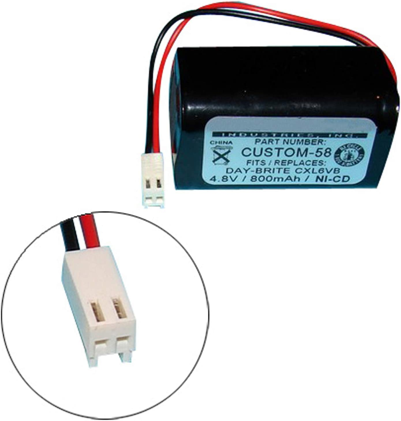 Day-Brite CXL6VB Interstate ANIC0938 CTL N700AAC-F22C//C Emergency//Exit Lighting Battery Fits and Replaces CTL 685896020 Interstate NIC0939 Fast USA Ship