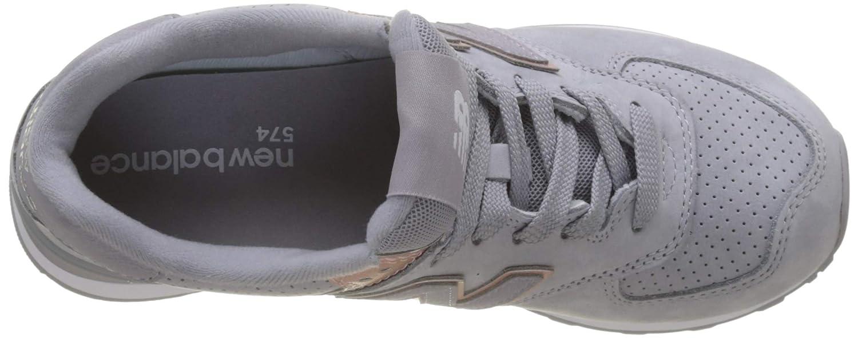 Nueva Balance WL574 NBN Gris Rosa Zapatos Mujer Cordones de Las Zapatillas de Deporte: Amazon.es: Zapatos y complementos