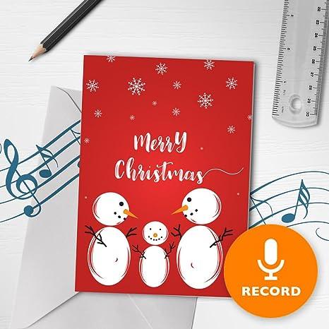 Amazon.com: Tarjeta de felicitación de Navidad | Grabador de ...