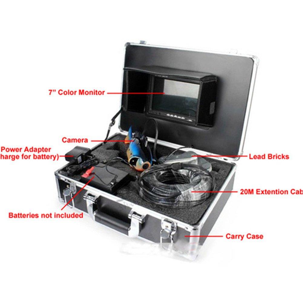 Ennio Sy8000 7'' Color TFT Underwater Fish Finder Video Camera Luxury Set w/ 20m Cable / Case - Black by Ennio (Image #2)