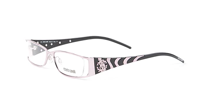 Amazon.com: Roberto Cavalli Giacinto Eyeglass Frames 53mm Rose/Black ...