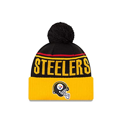 91368ee508e977 Image Unavailable. Image not available for. Color: Pittsburgh Steelers New  Era Jumbo Cheer Pom Knit ...