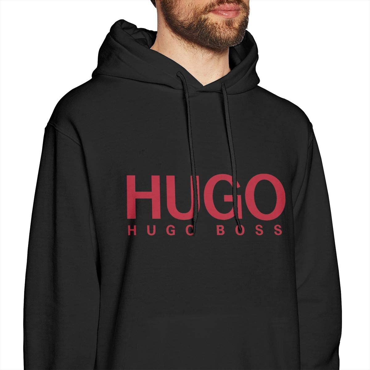 Aidaneforster Sudadera con Capucha para Hombre Hugo Boss /Único Black Camisa De Entrenamiento