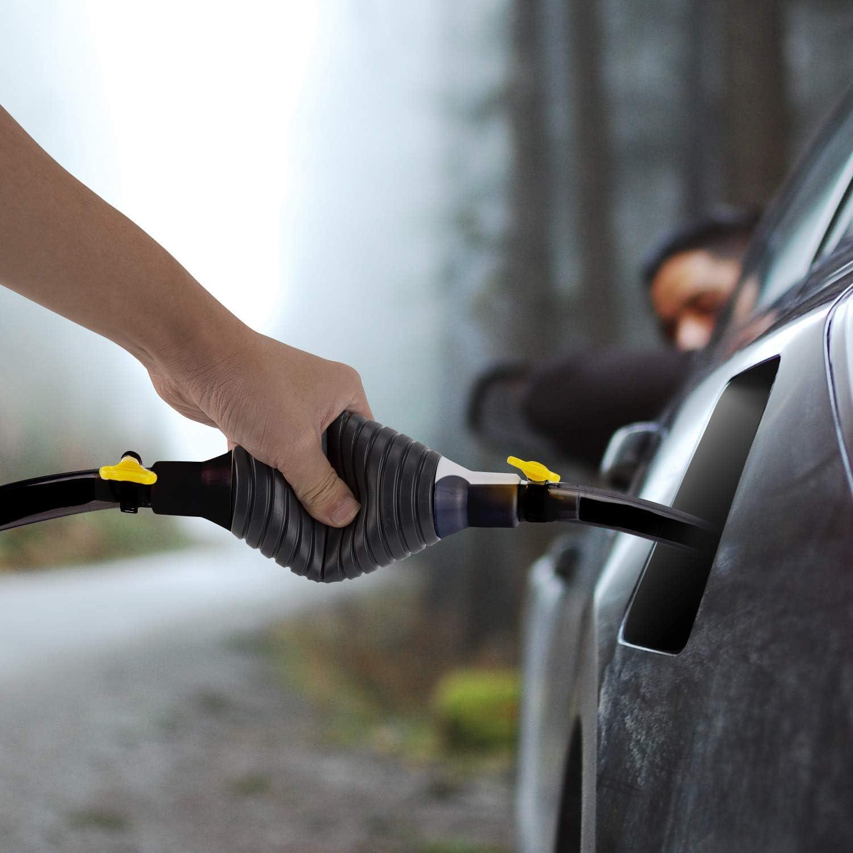 Luter Benzin Handpumpe Und Schlauch Mit 2 Gelben Dichtungszubehören Für Fahrzeug Manuelle Öl Absaugpumpe Auto