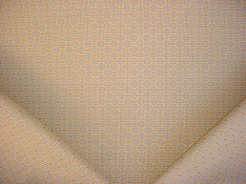 72RT12 - Brass / Bark Brown / Light Beige Gingham Check Diamond Lattice Casual Traditional Designer Upholstery Drapery Fabric - By the Yard - Traditional Lattice