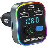 LENCENT - Transmisor FM Bluetooth para coche, QC3.0 inalámbrico, adaptador Bluetooth para coche, reproductor de música…