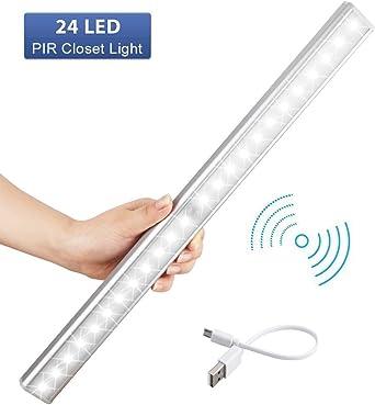 LED Schrankbeleuchtung  USB LED Nachtlicht mit Bewegungsmelder Auto ON//OFF