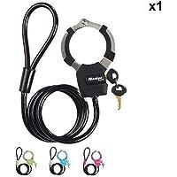 Master Lock Câble Antivol Vélo à Menotte [Couleur aléatoire] 8275EURDPRO - Idéal pour trottinettes et vélos