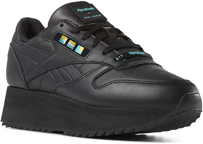 Reebok Classic Leather Double Damen Sneaker Schwarz: Amazon