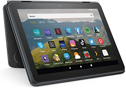 Amazon Funda para tablet Fire HD 8 (compatible con el tablet de 10.ª generación, modelo de 2020), antracita: Amazon.es