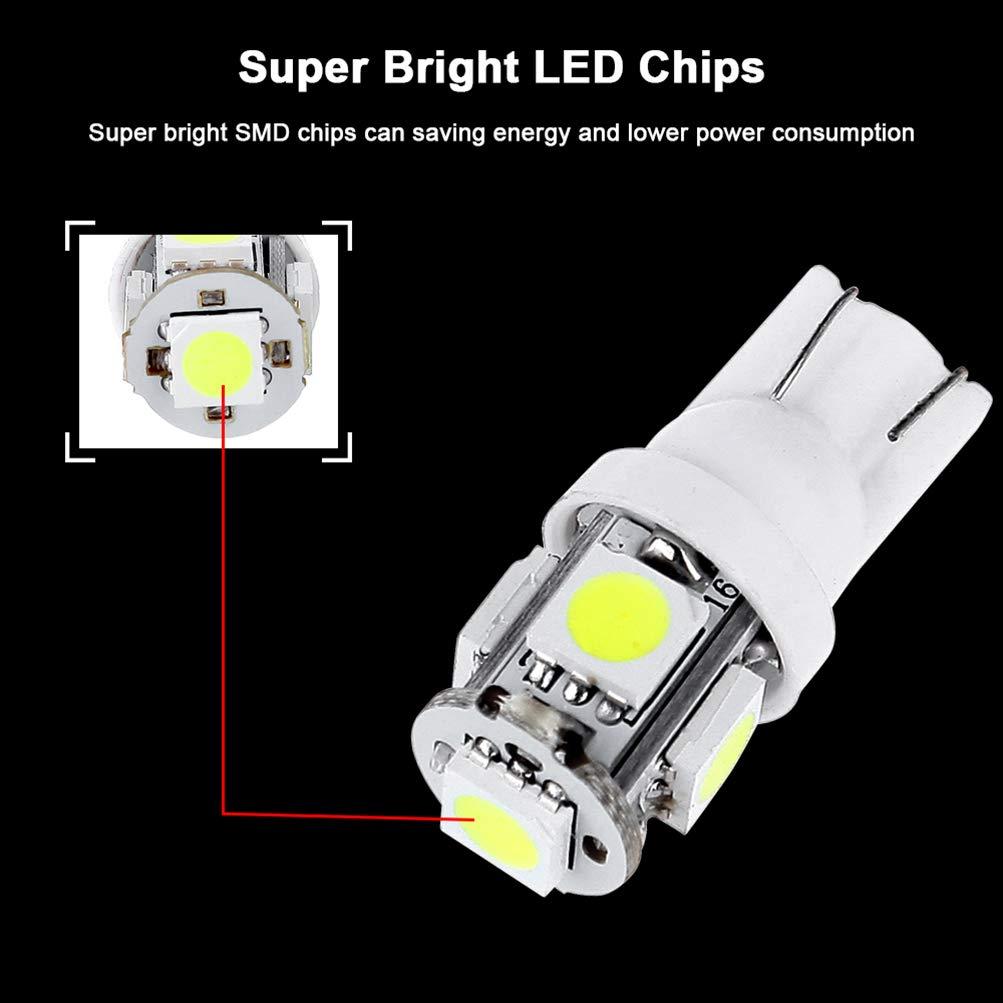 T10 5-5050-SMD PC194 LED Bulb Instrument Panel Cluster Dash Light Twist Lock Socket 10 green cciyu