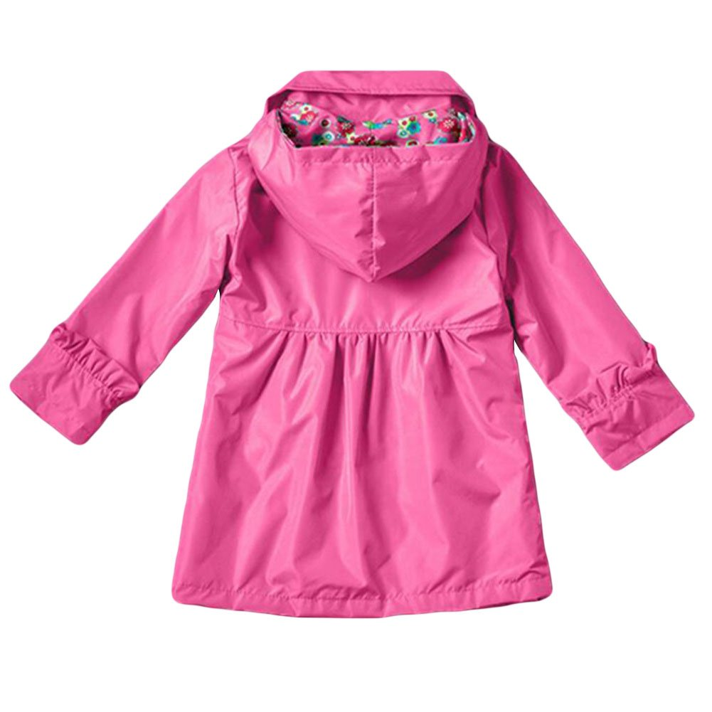 Zhuhaixmy Girls Rain Jacket Hooded Raincoat Regenmantel Wasserdicht Waterproof Outwear Coats Kids Clothes 2-7Year