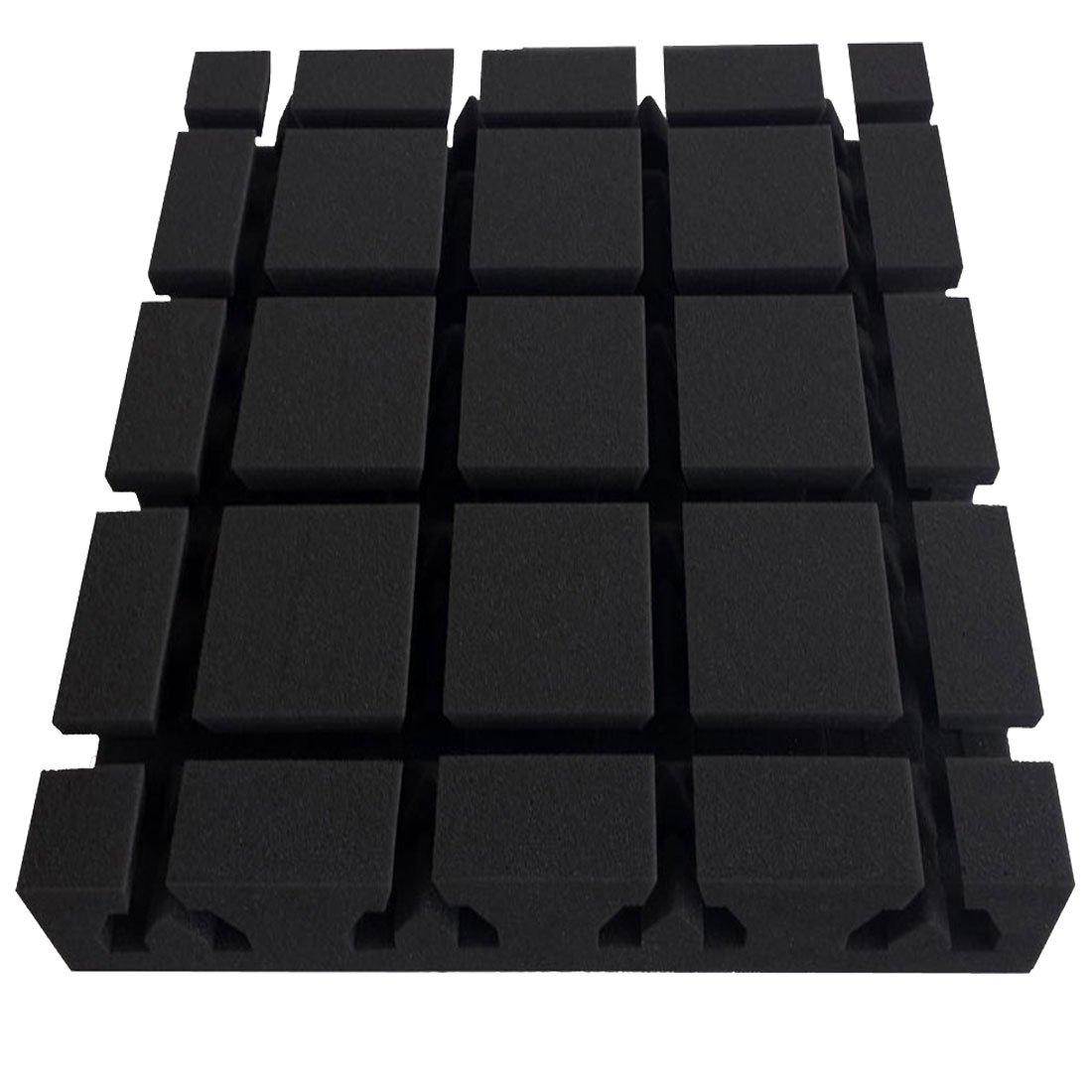 Acú stica –  absorber Sonora, 40 x 40 x 8 cm, antracita negro, FSE (igní fuga segú n mvss302) 40x 40x 8cm FSE (ignífuga según mvss302) Pyramidenkönig