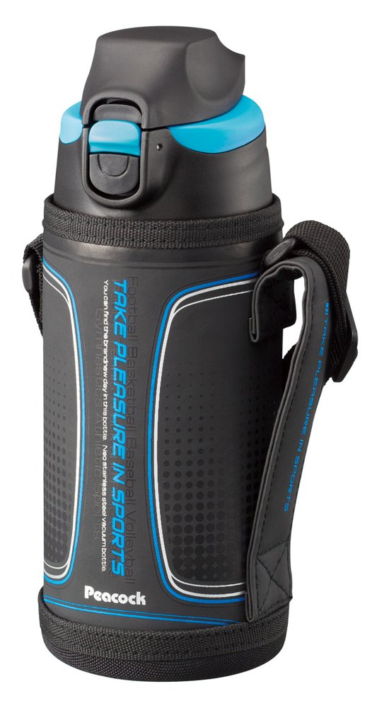 Peacock stainless steel bottle - drink straight type porch] 0.6L Blue ADZ-F60 (A) (japan import) by Peacock (Image #1)