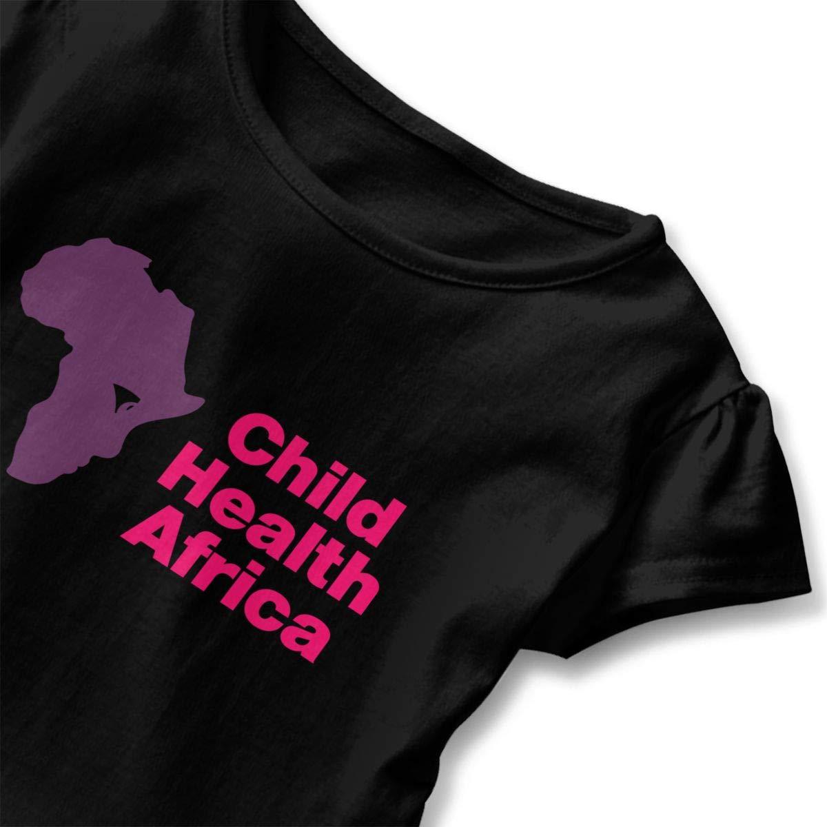 JVNSS Child Health Africa Shirt Design Kids Flounced T Shirts Tee Shirts for 2-6T Baby Girls