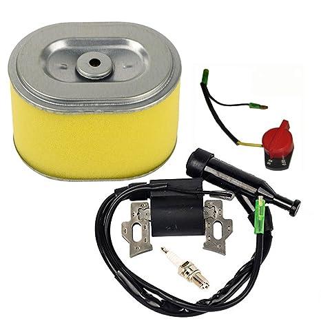 HIFROM Bobina de encendido Bujía de encendido Filtro de aire apagado interruptor de parada del motor