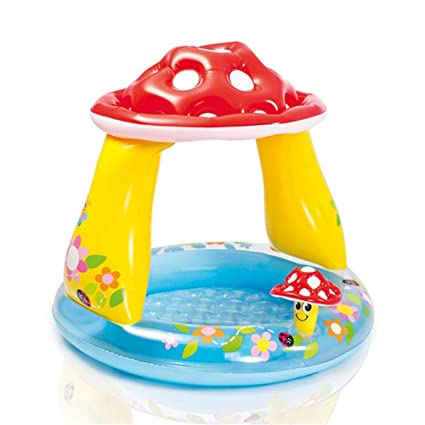 Amazon.com: Mushroom piscina redonda inflable para niños ...