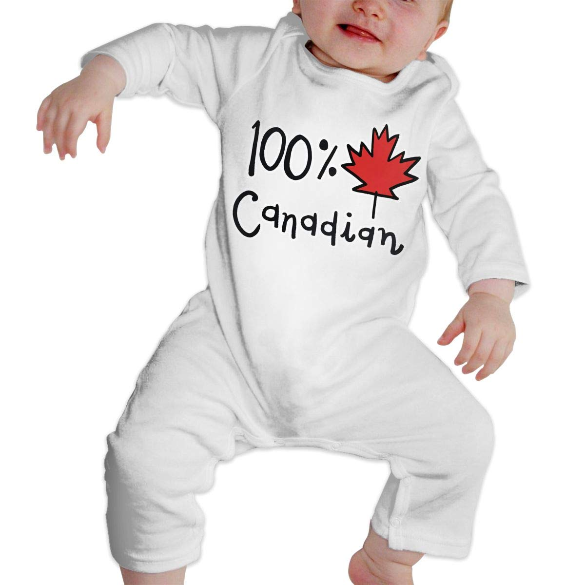 A1BY-5US Infant Baby Girls Cotton Long Sleeve 100/% Canadian Baby Clothes Funny Printed Romper Clothes