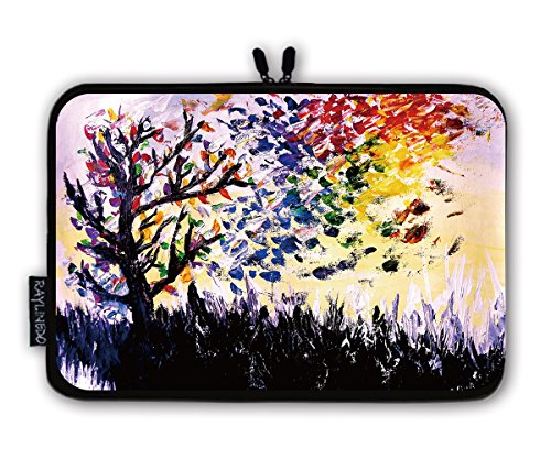 RayLineDo Paint Tree Design Notebook Computer Tablet PC Soft Neoprene Sleeve Case Travel Bag Pouch Protector for 12.5