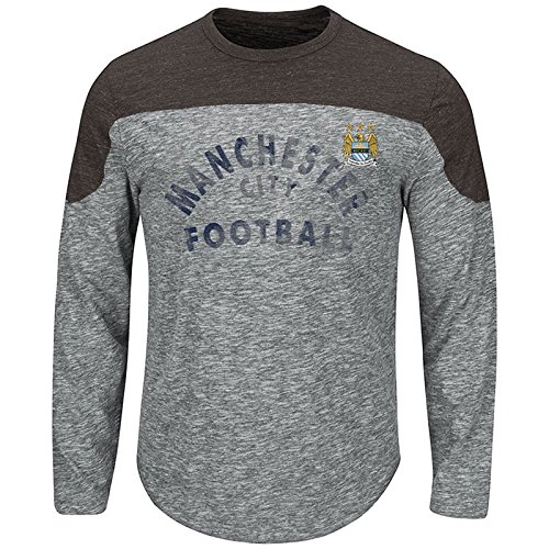 VF LSG International Soccer Manchester City Women's Corner Blitz Long Sleeve Tee, Gray/Pepper Slub/Charcoal, X-Large