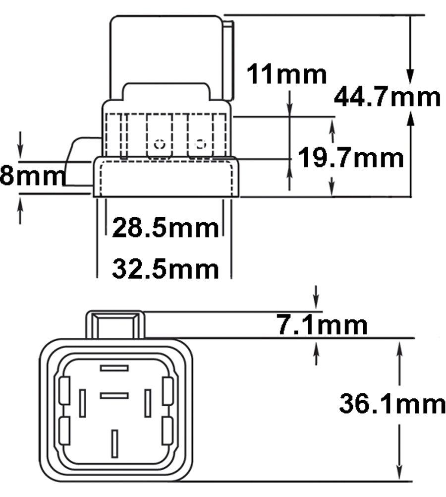 hella 007794301 weatherproof 20  40 amp spdt mini relay