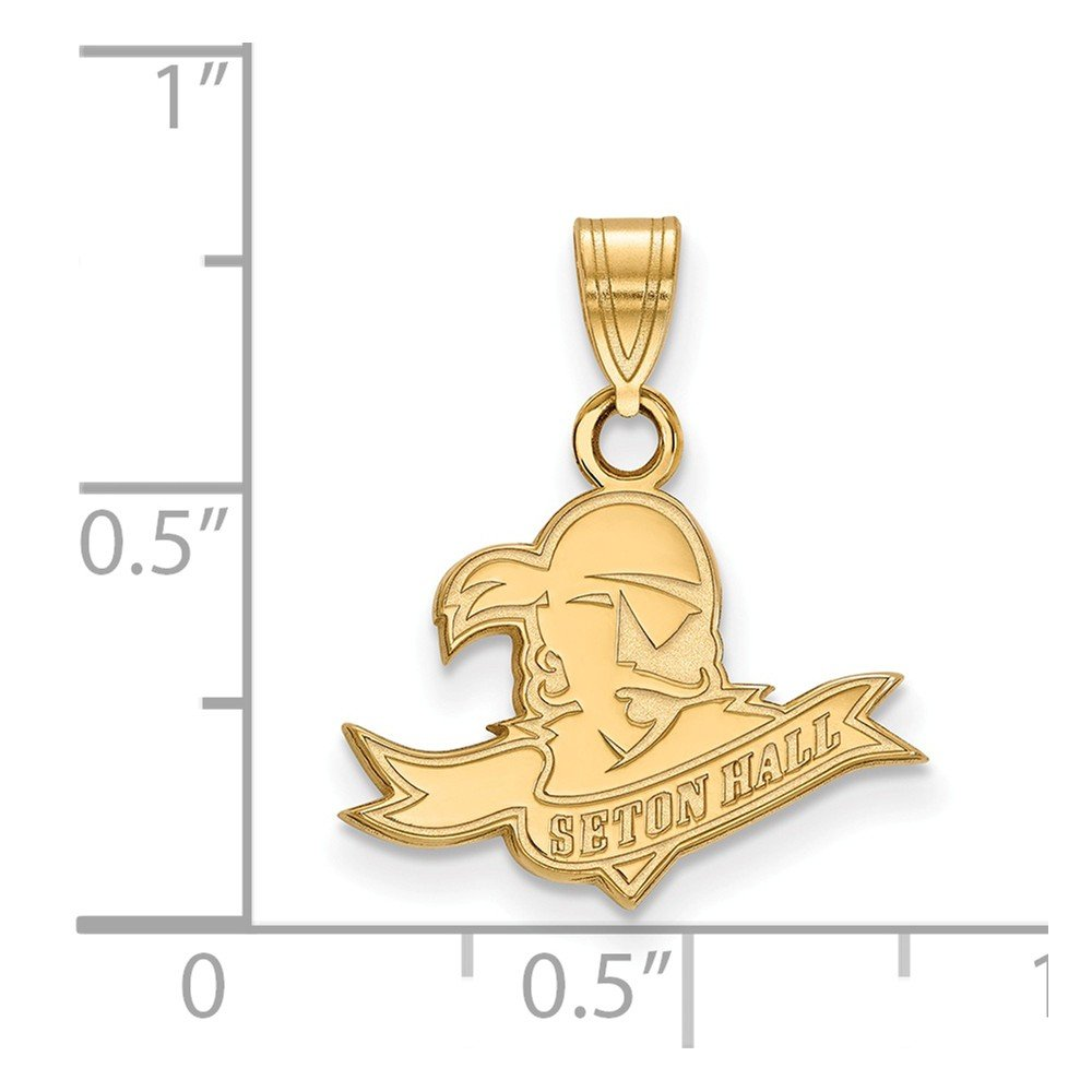 Solid 925 Sterling Silver with Gold-Toned Seton Hall University Small Pendant