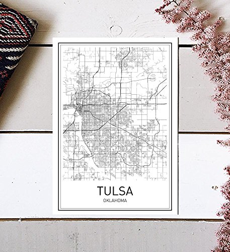Tulsa Map Print, Tulsa Map, Tulsa Poster, City Map Posters, Tulsa Print, Oklahoma City, Oklahoma Map Art, Map Wall Art, Modern Map Art, Minimalist Poster, Scandinavian Poster, 8x10 ()