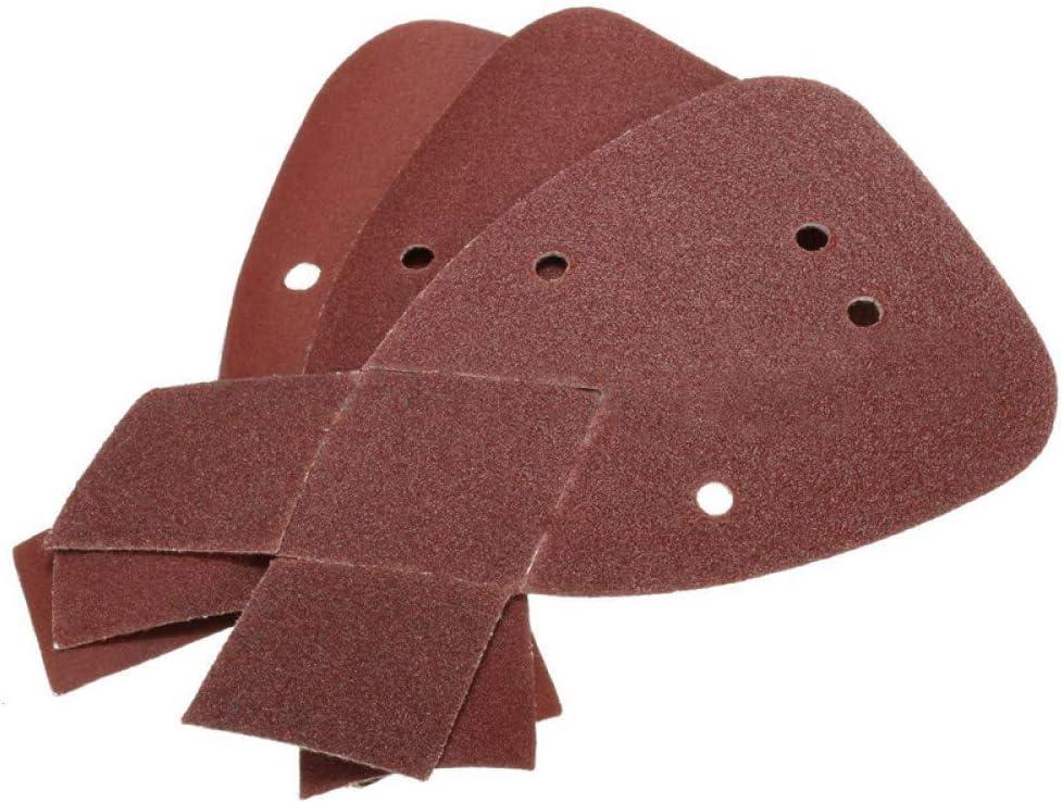 60Pcs 3 TIPO grana MOLINB carta vetrata Set di levigatrici per levigatrici per topolino 80//120//180//240 per Black /& amp;/Decker 20 60pcs