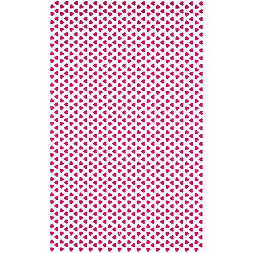 Hearts Pink Cocoa Butter Chocolate Transfer Sheet by GSA
