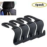 (Set of 4) Car Headrest Hanger, Akwox Universal Car Hook 4 Car SUV Back Seat Headrest Hanger Storage Hooks